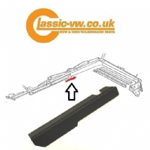 Mk1 Golf Cabrio Right Side Roof Drip Trim 155871352 (79-83)